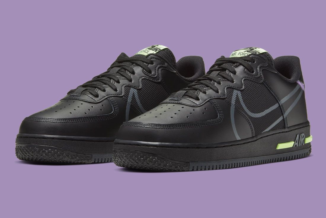Nike Air Force 1 React Cd4366 001 Front Angle