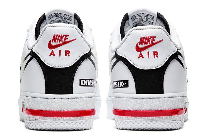 Nike Air Force 1 React White Heel