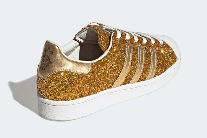 Adidas Superstar Gold Metallic Fw8168 Rear Angle