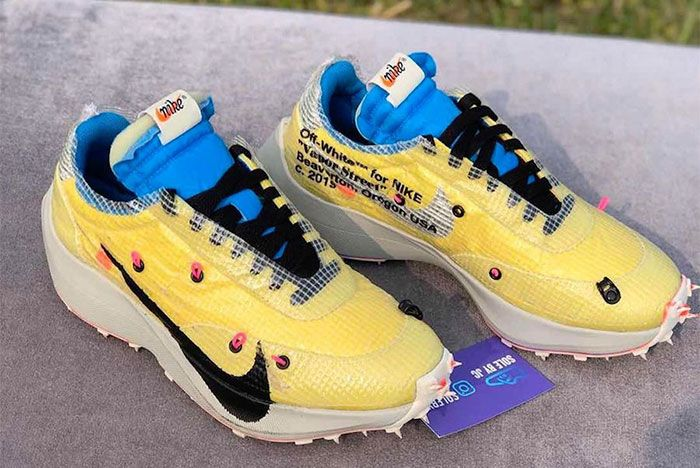 Off White Nike Vapor Street Yellow Preview Right Side View