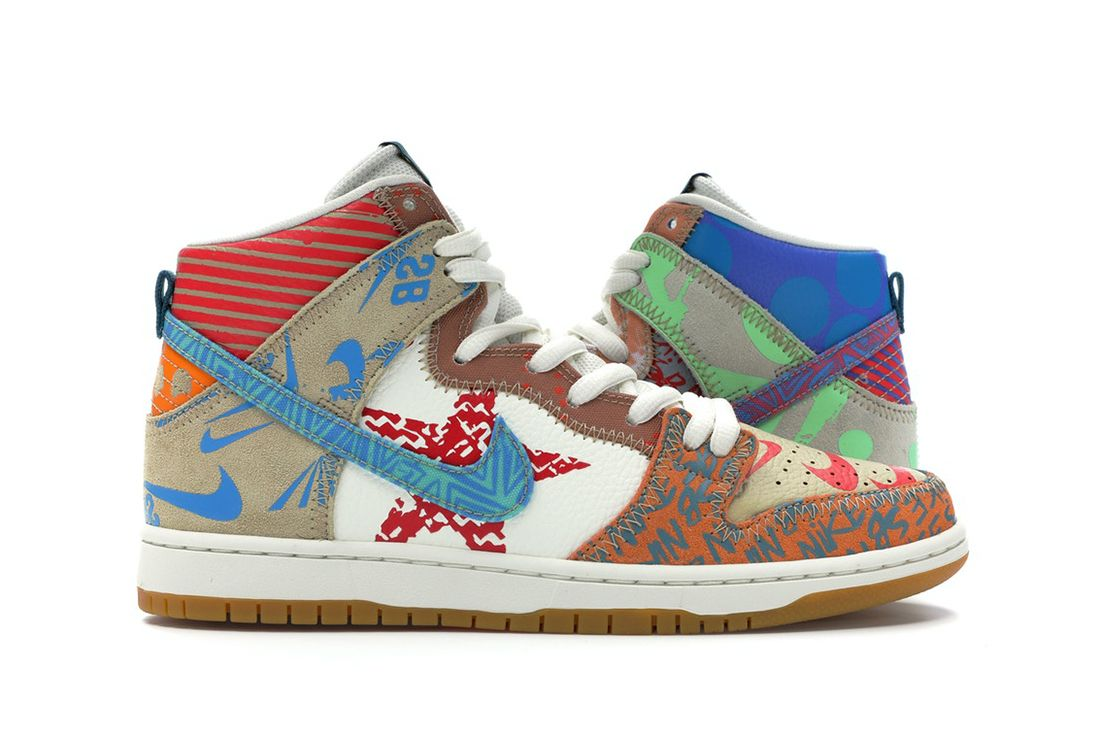 Nike SB Dunk High Thomas Campbell What the Dunk 2017 Right