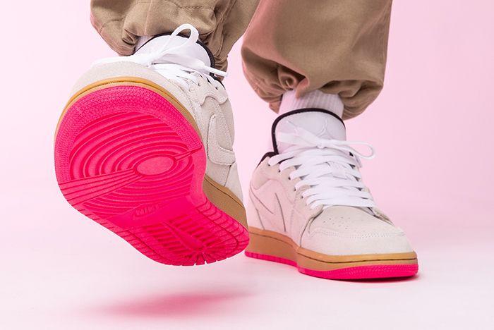 Air Jordan 1 Low Hype Pink 553558 119 Front Angle Shot