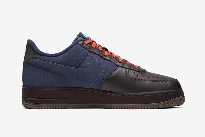 Nike Air Force 1 Burgundy Ash Celestine Blue Medial