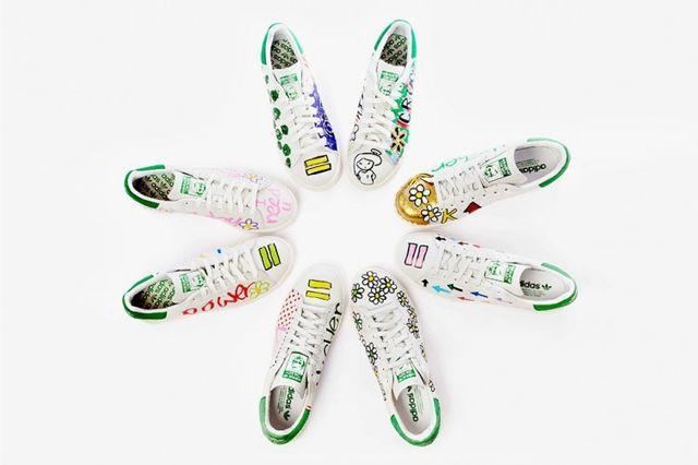 Pharrell Williams Hand Painted Adidas Originals Stan Smith 2