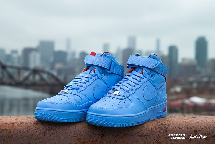 Just Don Nike Air Force 1 High All Star American Express Front Angle