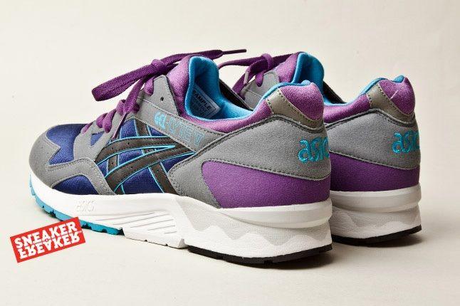 Asics Gel Lyte V Grey Purple Blue 4 Heel Quarter 1
