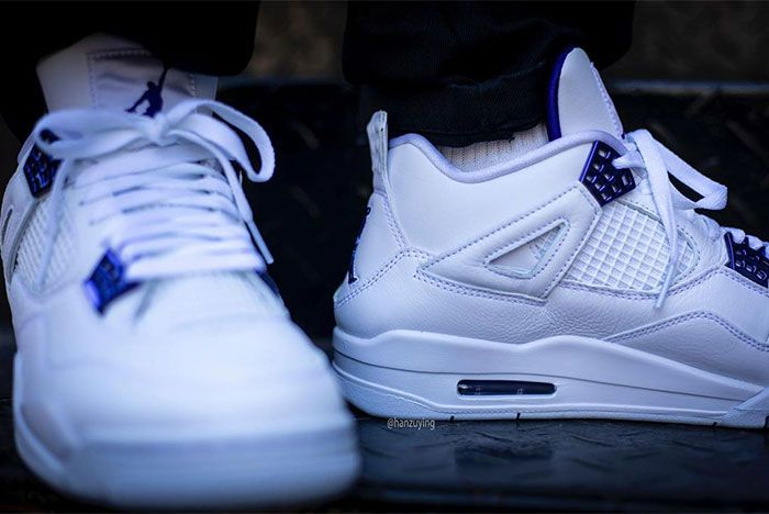 Air Jordan 4 Court Purple Stairs Right Close
