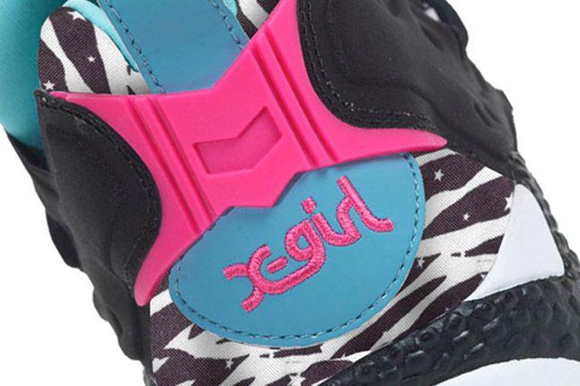 X Girl Reebok Pump Fury Side Zebra Heel 1
