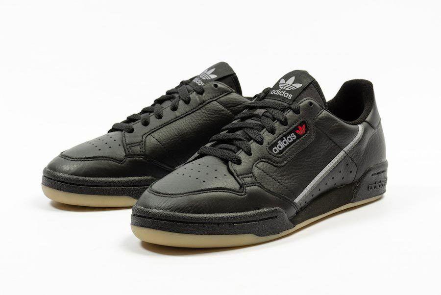 Adidas Continental 80 Black Gum Bd7797 1