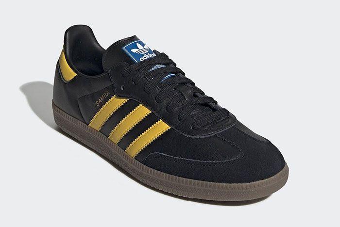 Adidas Samba Yellow Black Right 2