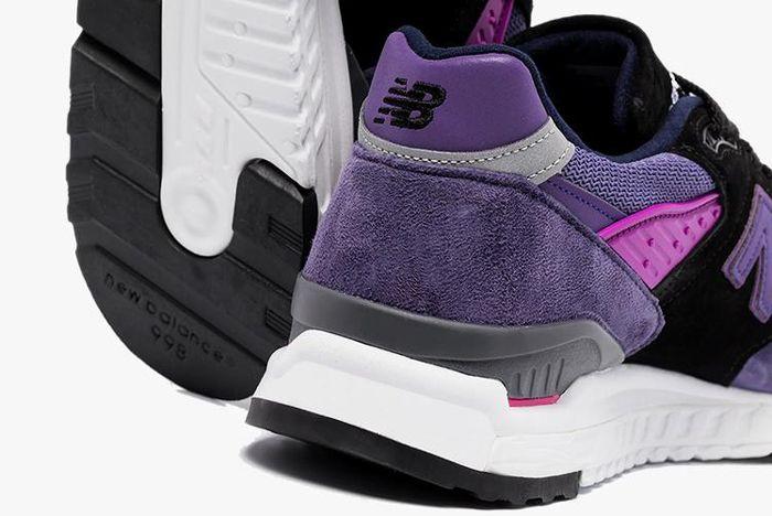New Balance 998 Purple Heel Close Up