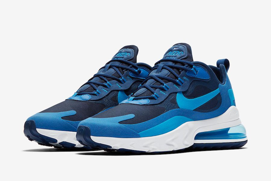Nike Air Max 270 React Blue Void Ao4971 400 Front Angle
