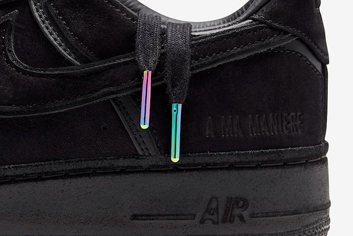 A Ma Maniere Nike Air Force 1 Black Hand Wash Cold Cq1087 002 Laces