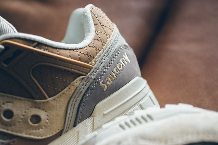 Saucony Grid Sd Quilted Tan Grey 03