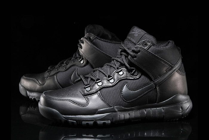 Nike Sb Dunk Hi Boot Black 8