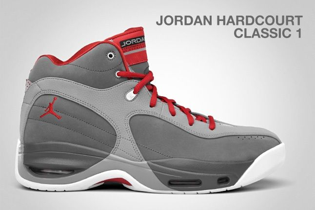 Jordan Hardcourt Classic 1 Grey Red 1