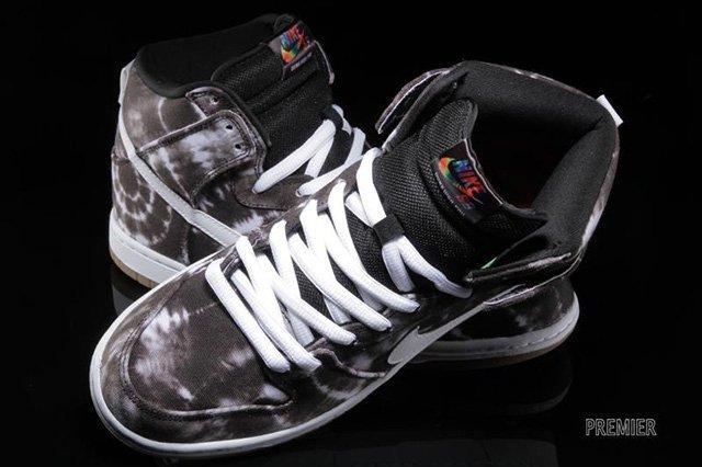 Nike Sb Dunk High Black White Tie Dye