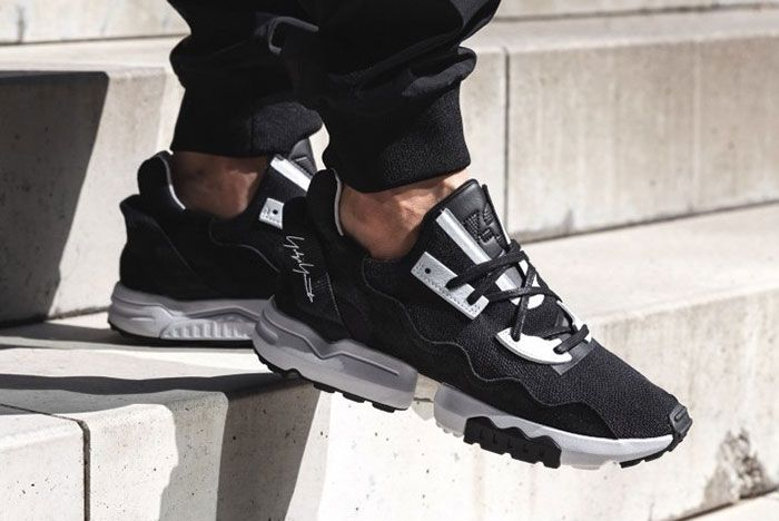 Adidas Y 3 Zx Torsion Black Ef2624 On Foot