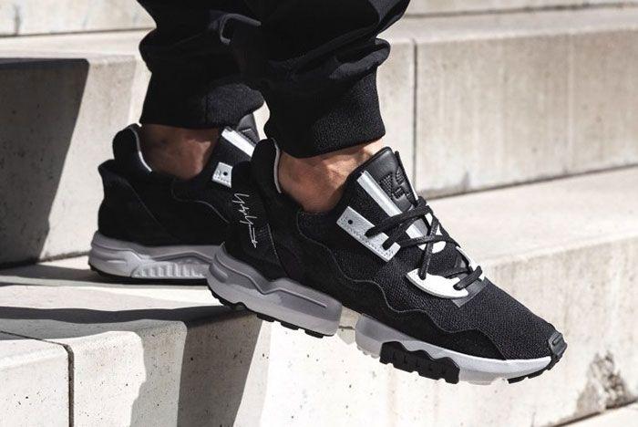 Adidas Y 3 Zx Torsion Black Ef2624 On Foot
