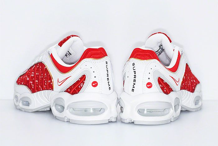 Supreme Nike Air Max Tailwind 4 Red White Release Date Heel