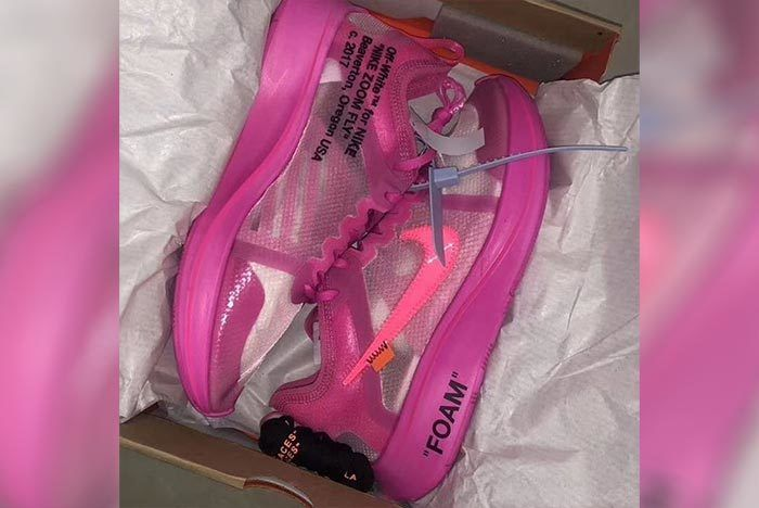 Off White Nike Zoom Fly Sp Tulip Pink 2