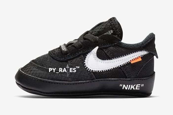 Off White Nike Air Force 1 Black Cone Toddler 1