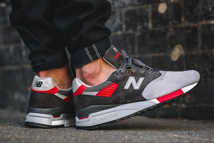 New Balance 998 Made In Usa Grey Red 7
