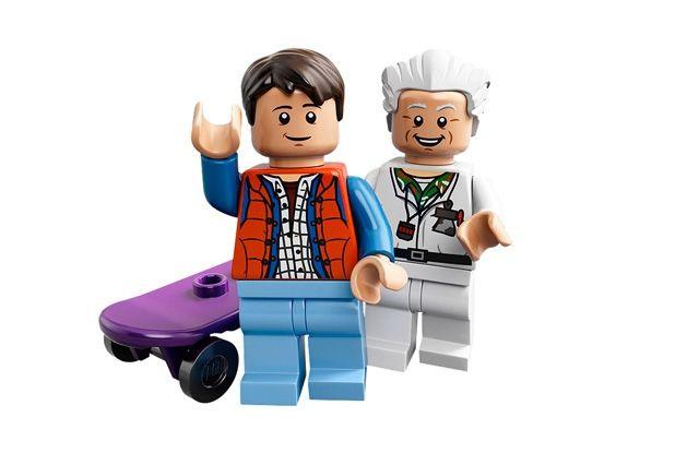 Lego Bttf Delorean Marty Doc