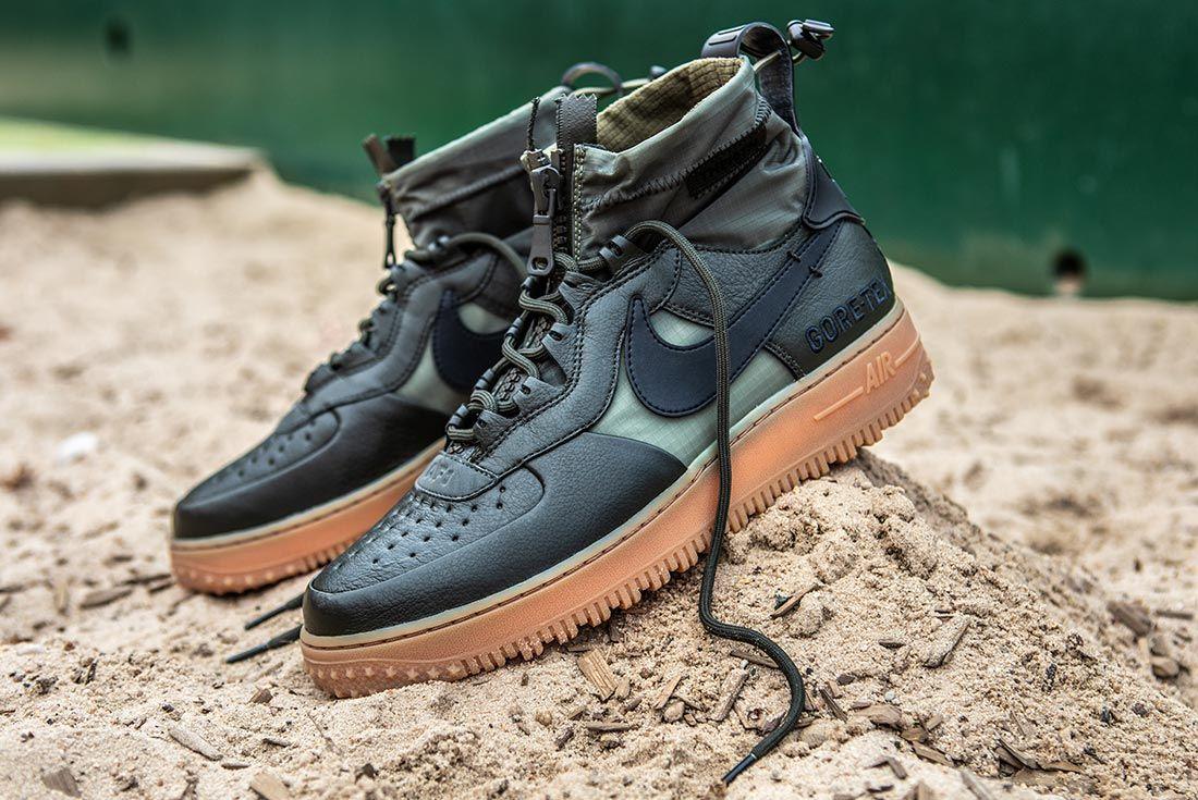 Nike Air Force 1 High Gore Tex Green Left Quarter