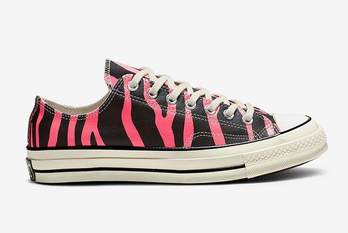 Converse Chuck 70 Pink Tiger Stripe Right Side Shot