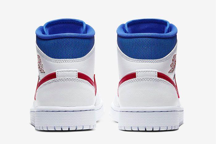 Air Jordan 1 Mid American Flag Heel