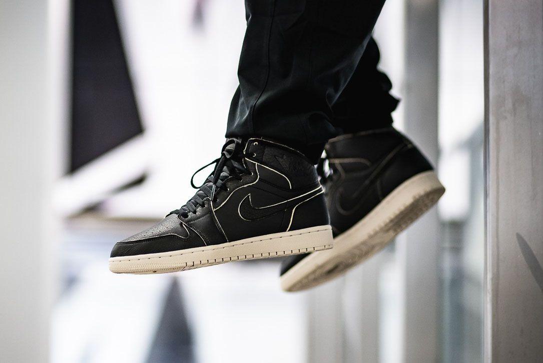 Afew Store Sneaker Air Jordan 1 Retro High Prem Black Black Desertsand 313 Sneaker Freaker