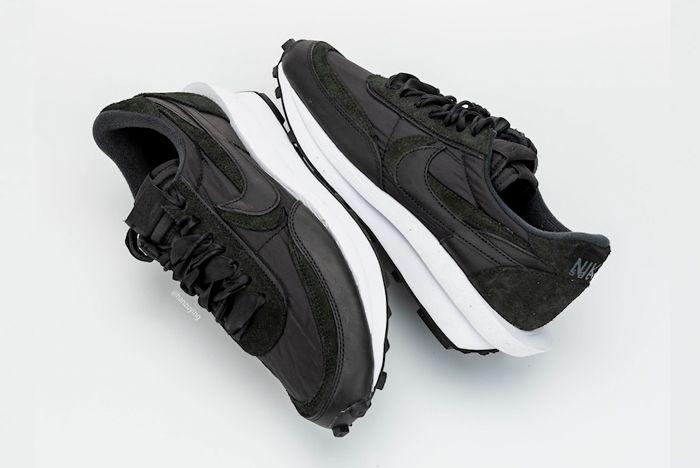 Sacai X Nike Ldwaffle Black Top Full