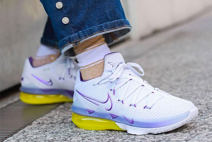 Nike Lebron 17 Low Lakers Home On Foot