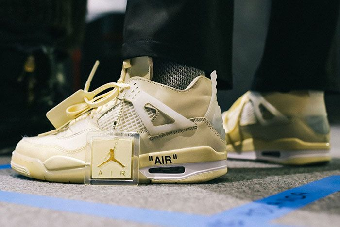 Off White Fall Winter 2020 Collection Runway Air Jordan 4 Sneaker Collab Closer Look2