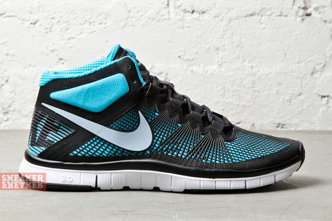 Nike Free Trainer 3 0 Mid Black Light Armory Blue 3