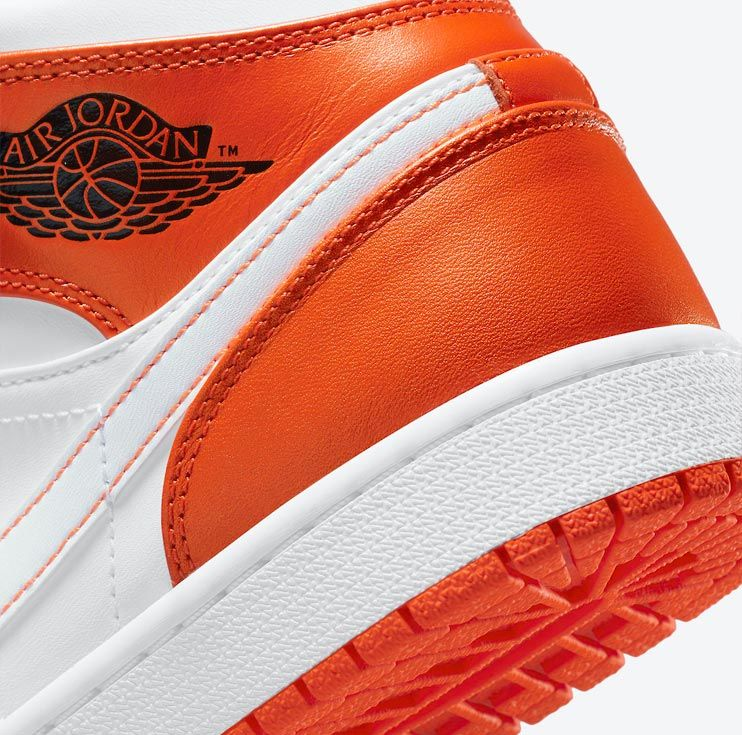 Air Jordan 1 Mid Orange/White