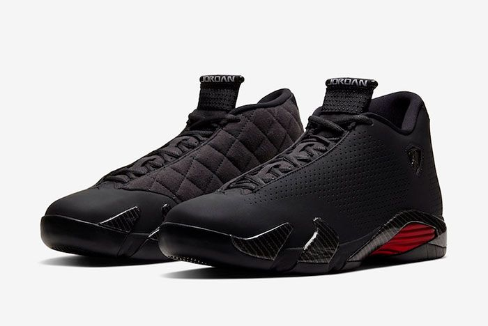 Air Jordan 14 Xiv Se Black Ferrari Bq3685 001 Front Angle