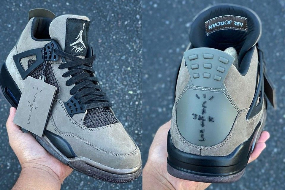 Travis Scott x Air Jordan 4 Olive Sample