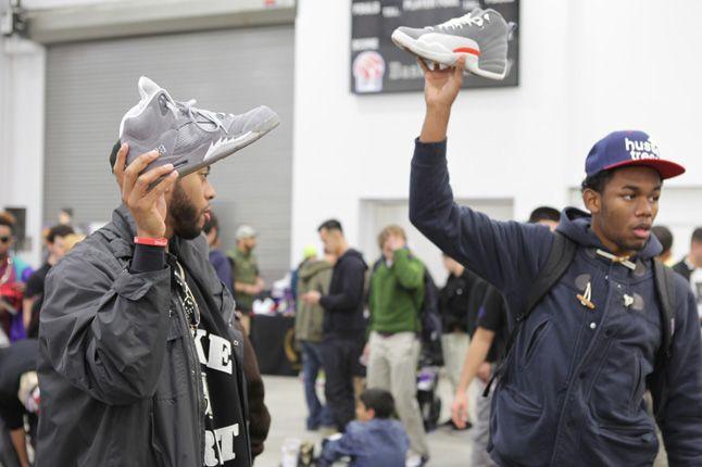 Sneaker Con New York 2012 Grey Jordans 1