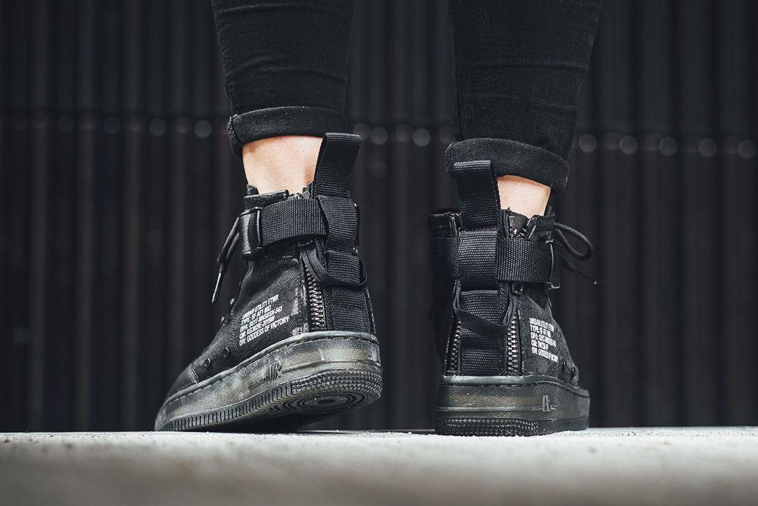 Nike Sf Air Force 1 Mid Black6 1