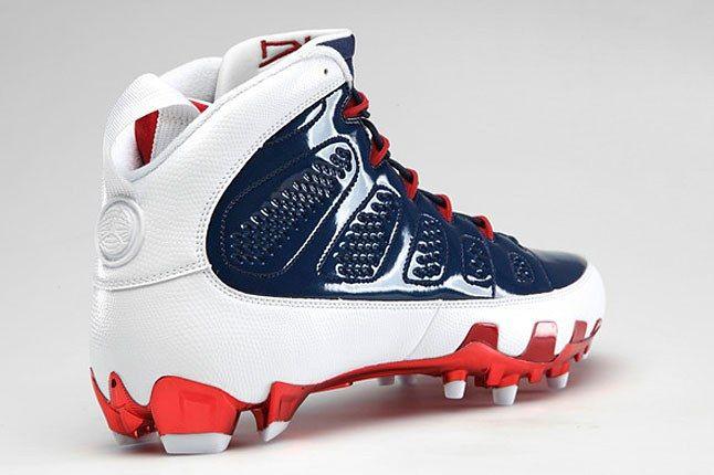 Navy Red White Jordan Cleat 1