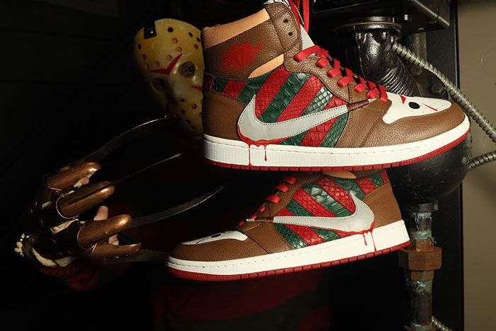 Ceeze Air Jordan 1 Freddy Vs Jason Custom Hanging