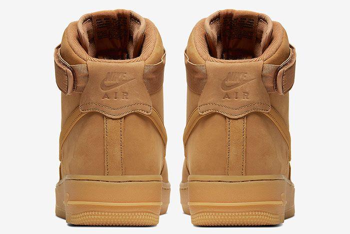 Nike Air Force 1 High Wheat Flax Cj9178 200 Heel