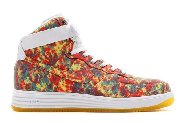 Nike Lunar Force 1 High Dyed Canvas Light Crimson Tour Yellow