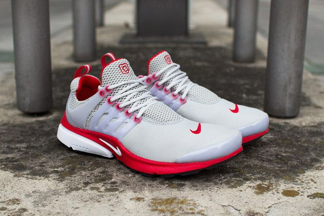 Nike Air Presto Grey Red Feature