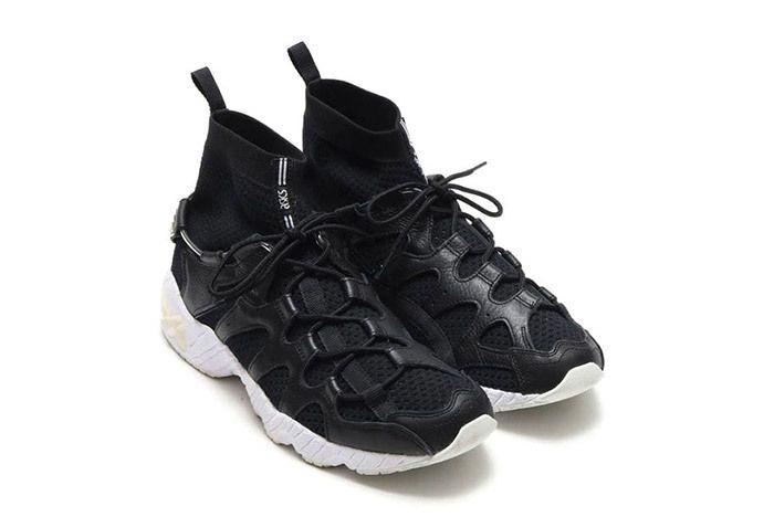 Asics Gel Mai Knit Mt Sock Black White 5
