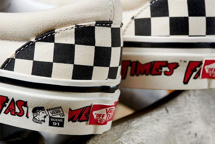 Vans Checkerboard Slip On Fast Times Heel