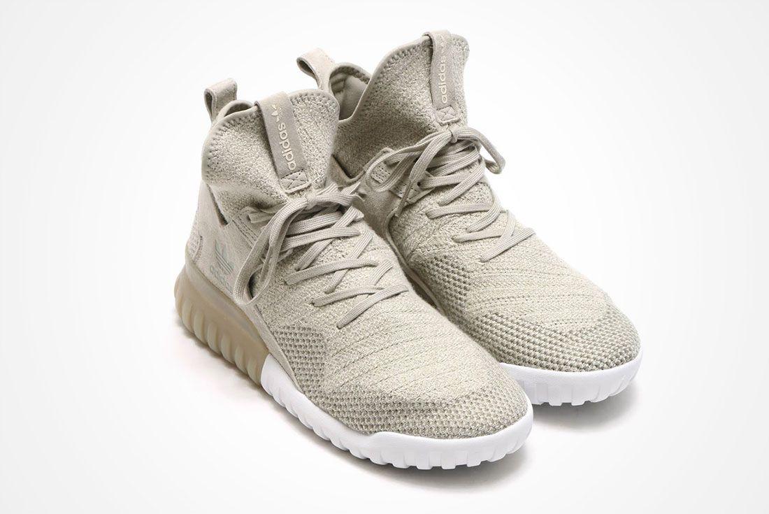 Adidas Tubular X Primeknit Seasame Clear Brown 1 A