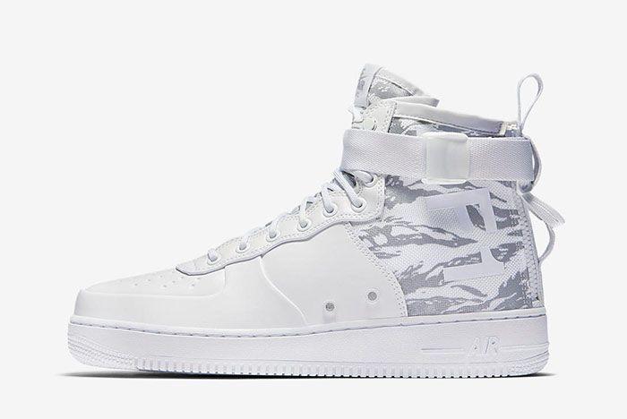 Nike Sf Air Force 1 Mid White